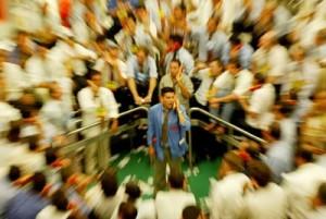 Primeiro Pregao do BMF (Bolsa de Mercados e Futuros) na primeira segunda-feira do ano. Dolar segue estavel.Sao Paulo, SP. 05.01.2004, Foto: Eduardo Knapp/Folha Imagem