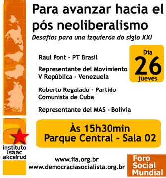 Confira as atividades da Democracia Socialista em Caracas