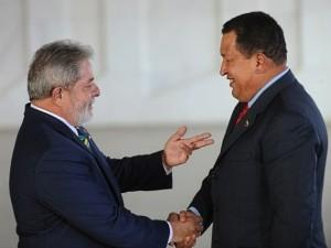 Brasilia- O Presidente Lula recebe o presidente da Venezuela, Hugo Ch·vez, no palacio do Itamaraty