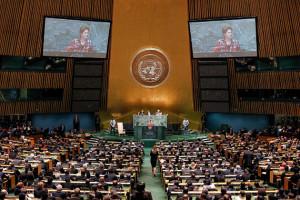 Nova Iorque - EUA, 25/09/2012. Presidenta Dilma Rousseff durante discurso na abertura da 67ª Assembleia-Geral das Nações Unidas. Foto: Roberto Stuckert Filho/PR.
