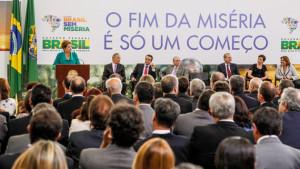 Brasília-DF, 19/02/201. Presidenta Dilma Rousseff durante cerimônia de anúncio de medidas do Plano Brasil Sem Miséria. Foto: Roberto Stuckert Filho/PR.